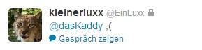 trauriger Luxx ist traurig, nooooh!